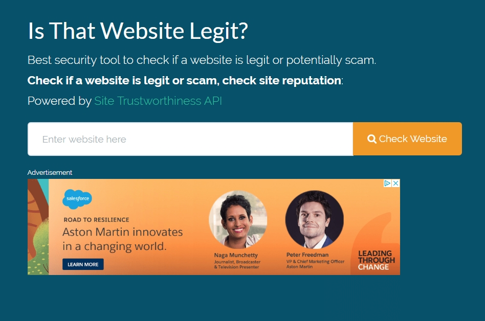 Legitimate Website