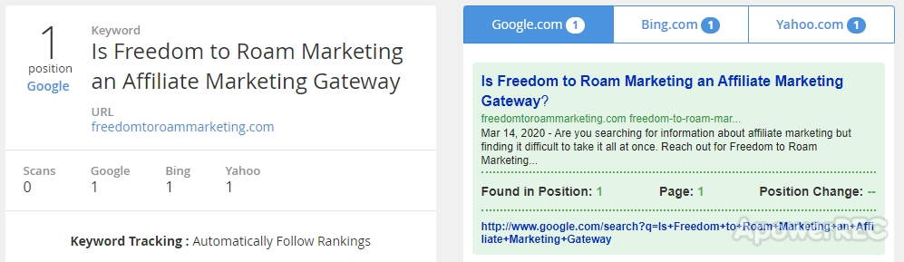 Gateway to Affiliate Marketing